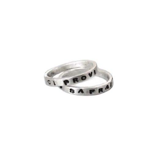 anelli personalizzati mignolo