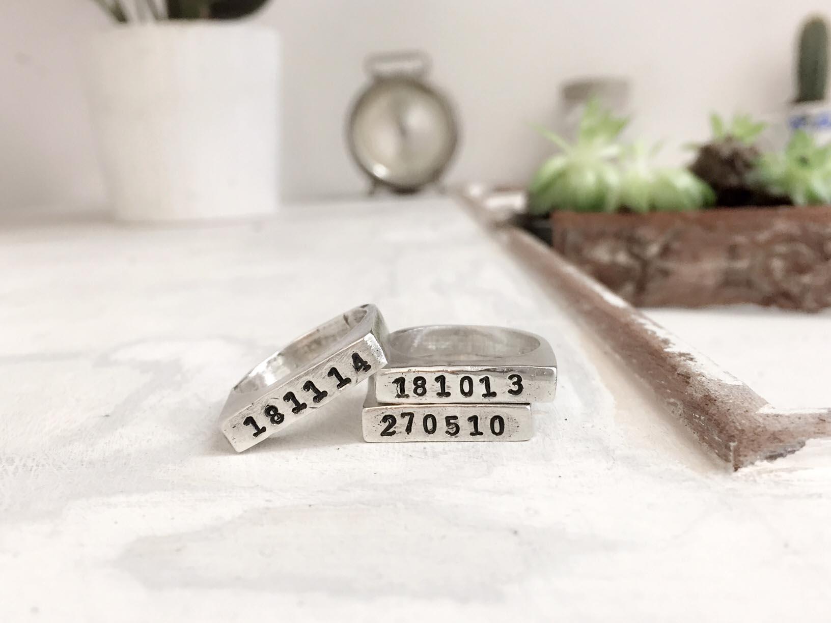 anelli con data incisa