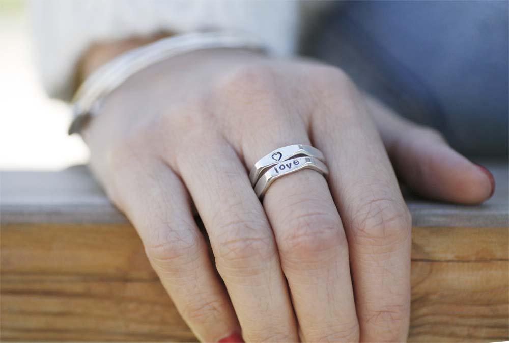 anello-bullone-argento personalizzato