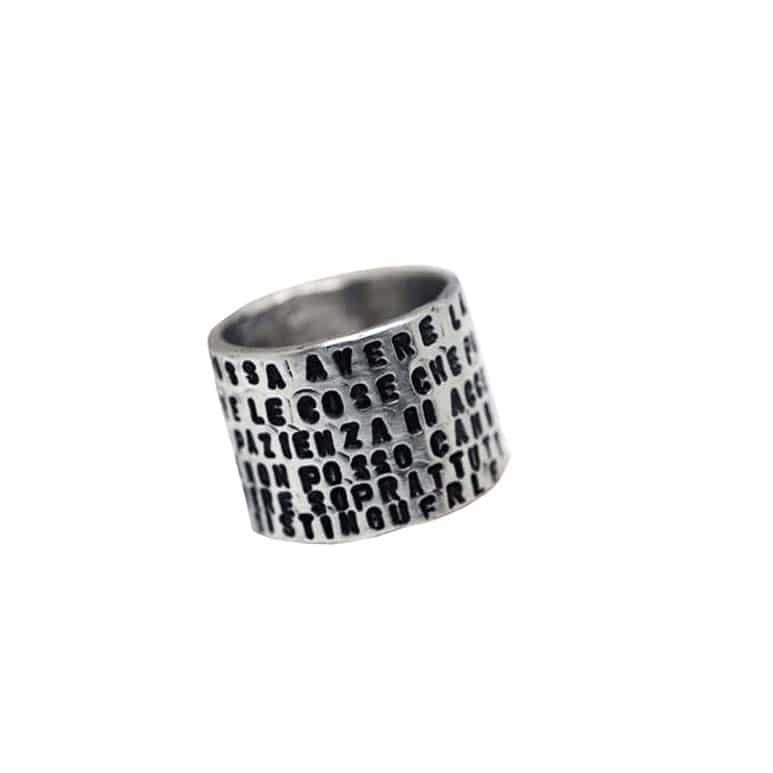 anello personalizzato alto da uomo