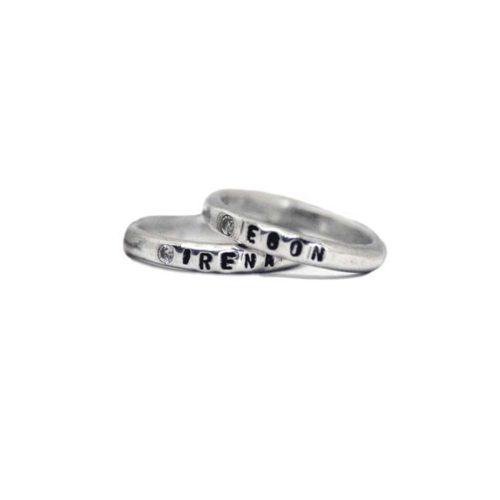 anello fede con nome