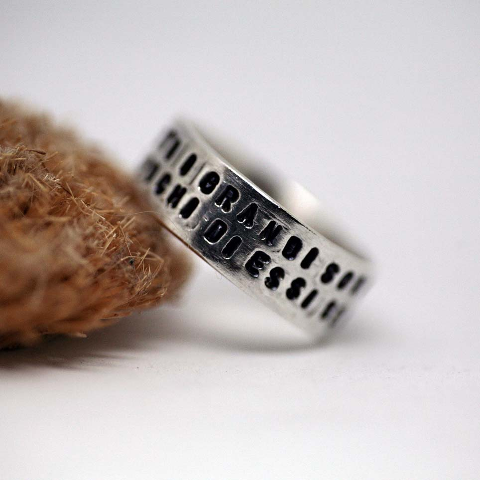 anello con stampa personalizzata