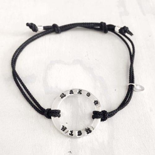 bracciale -make_a_wish argento