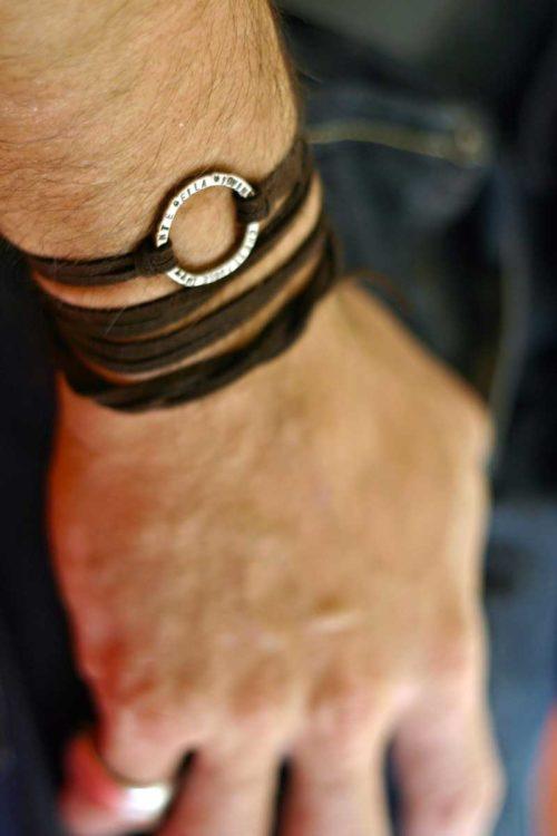 bracciale_uomo_pelle_argento