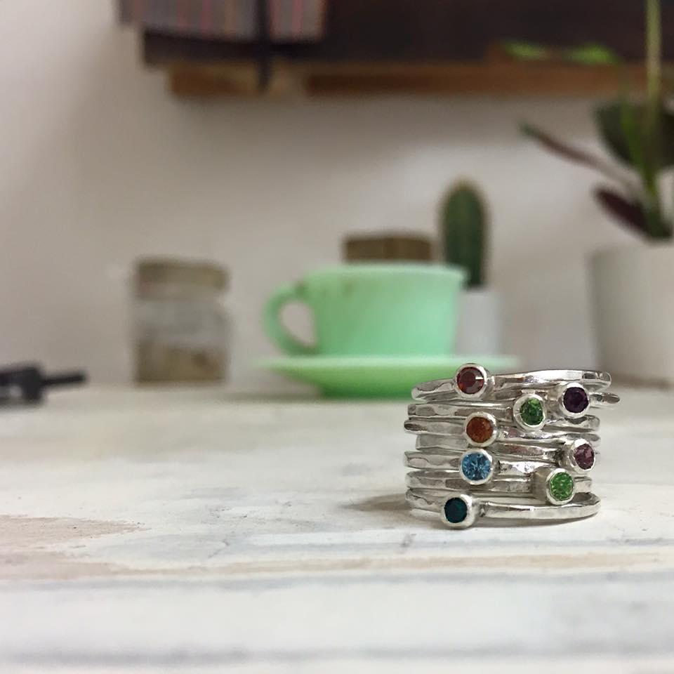 anelli con Swarovski