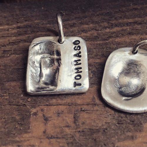 ciondoli-impronte in argento con nome