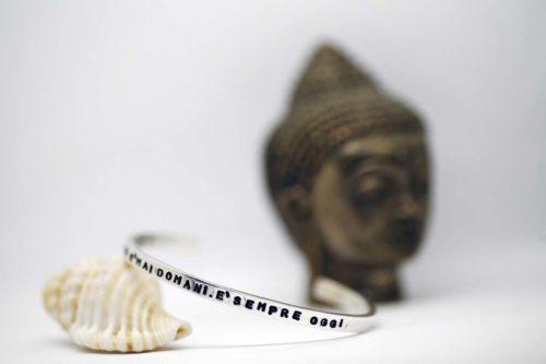 bracciale rigido argento mantra