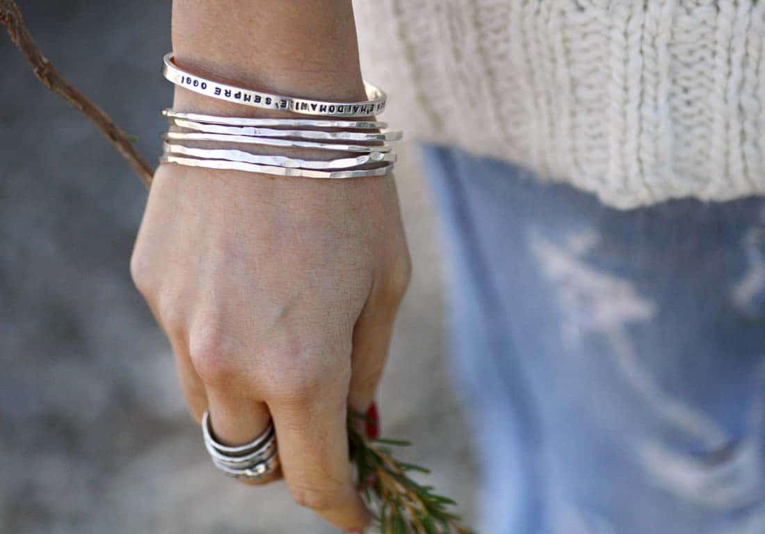bracciali boho in argento