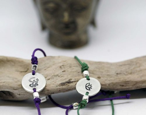 bracciali zen cordino e argento