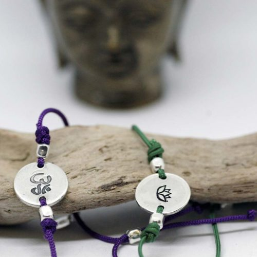 bracciali zen cordino e argento
