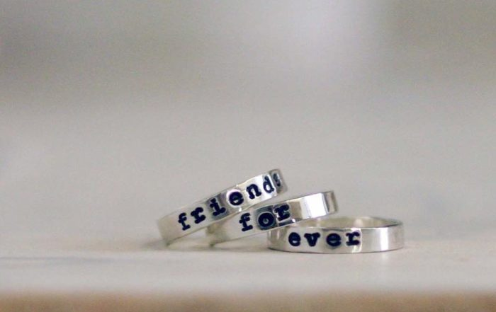 anello personalizzato con nome