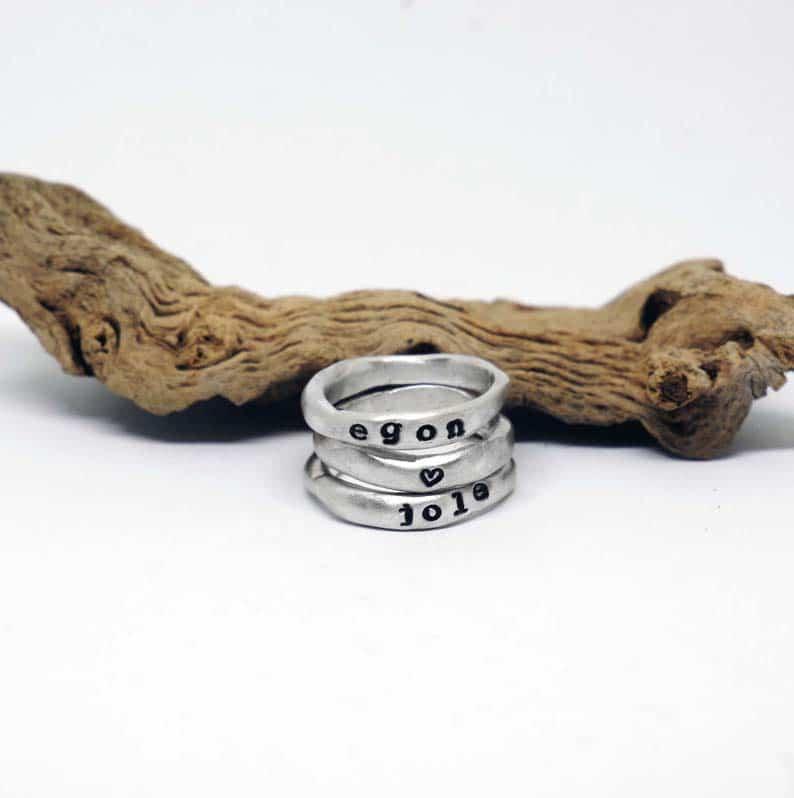 anelli argento unisex personalizzati