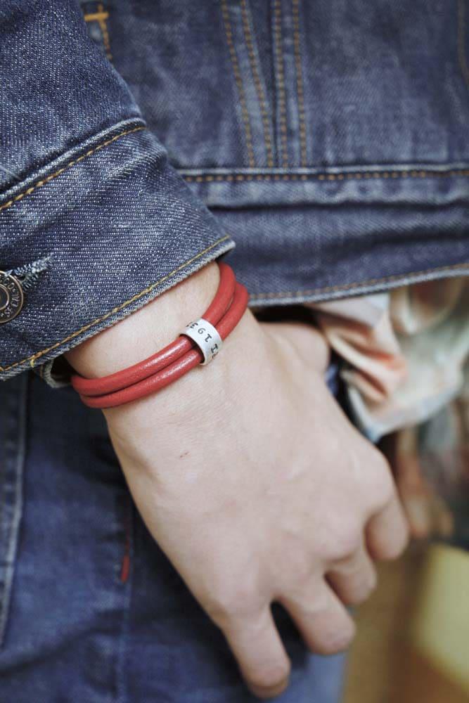 bracciale in cuoio uomo personalizzato