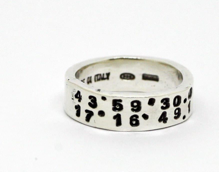 anello con coordinate