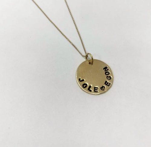 collana con nome oro