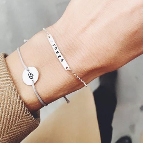 bracciale personalizzato argento