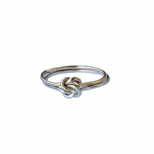 anello doppio nodo oro argento
